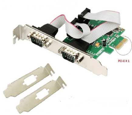 2 port serial RS-232 PCI-Express Card + LP Bracket