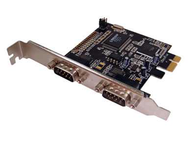 2 port serial RS-232 PCI-Express Card
