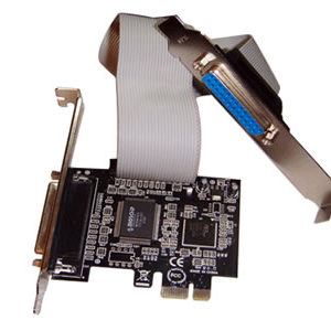 2 port parallel LPT PCI-Express Card