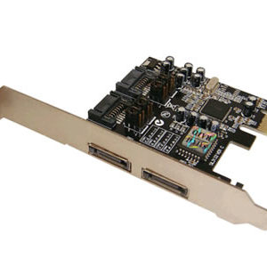 2-Port ESATA 2-Port SATA2 PCI-Express Card