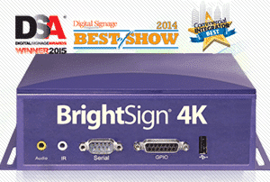 Mediaspelare digital signage Brightsign 4K232 4K resolution