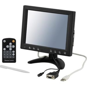 8 tum TFT LCD monitor med VGA video touch