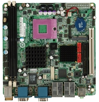 iEi 9652 mini ITX socket P dual GBLAN, digital IO, 4x serieport