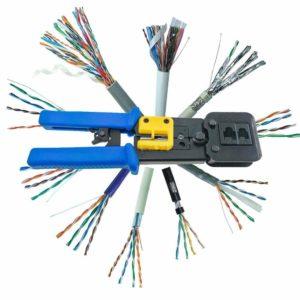 EZ Modularverktyg för RJ45 / RJ11 + 10 RJ45 kontakter