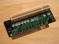 Raiserkort 1 PCI slot för ITX moderkort Vänster