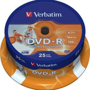 Verbatim DVD-R 25 pack printable