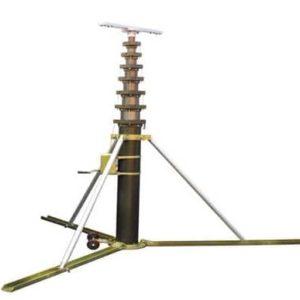 Mobil manuell teleskopmast 3 - 18m tripod hjulsats