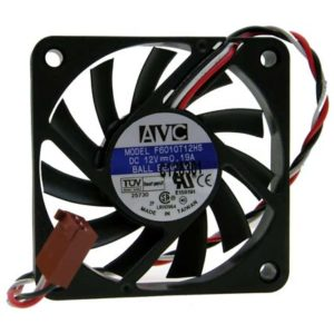 AVC fläkt 60x60x10 mm 12V DC 3 pin kontakt