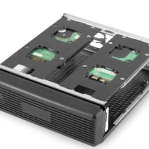 ICD ITX chassi Svart dual HDD ultra kompakt