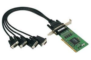 Moxa C104UL PCI 4 st serieportar RS232 ink bläckfisk