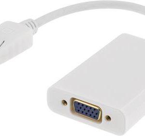 DisplayPort till VGA-adapter med ljud