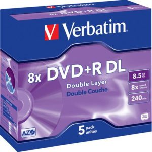 Verbatim DVD+R 5 pack Dual Layer