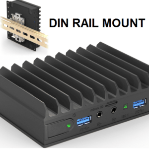 Embedded fanless low power PC DIN RAIL mounting