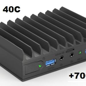 Embedded fanless low power PC wide temp -40 till + 70