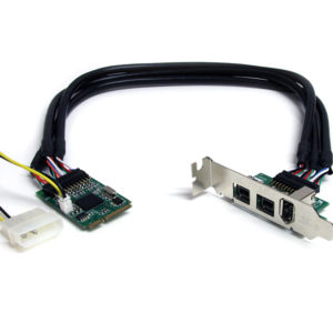 1 port 400 2 port 800 Firewire Mini PCI-Express Card