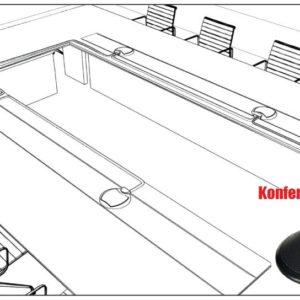 Konferensrumsmikrofon 3,5 mm kontakt