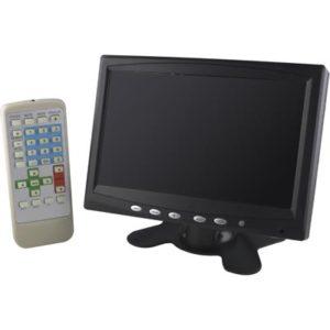 7 tum monitor med högtalare och fjärrkontroll VGA