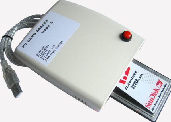 PCMCIA PC card reader to USB 2.0
