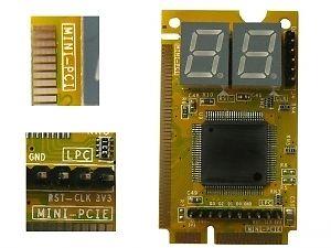 Mini PCI-e / PCI och LPC postcode testkort