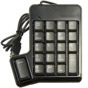 Numpad numeriskt tangentbord med mellanslagstangent / space USB