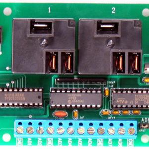RS232 Reläkontroller 2 kanalig 20 Amp SPDT+ 8 kanal 8/10 bit A/D