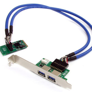 2 Port SuperSpeed USB 3.0 Mini PCI-Express Card