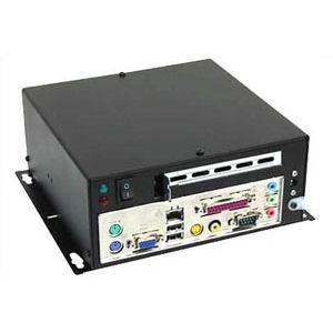 ICD ITX chassi Svart för väggmontage med singel PCI slot