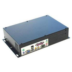 ICD ITX chassi Svart för väggmontage med dubbla PCI slot